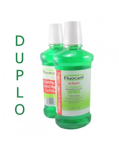 Fluocaril Bi-Fluoré Pack Colutorio fluor, 2x 500ml