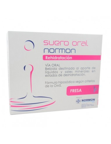Normon Suero Oral Rehidratación Fresa, 2 Bricks x 250ml