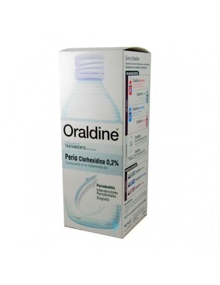 Oraldine Colutorio Perio Clorhexidina 0,2% Tratamiento Periodontal, 400ml