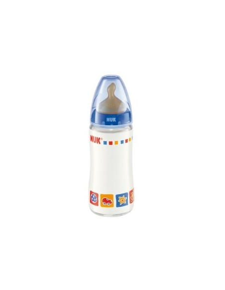 Nuk Biberon Cristal First Choice Latex T-1 0-6m, 240ml