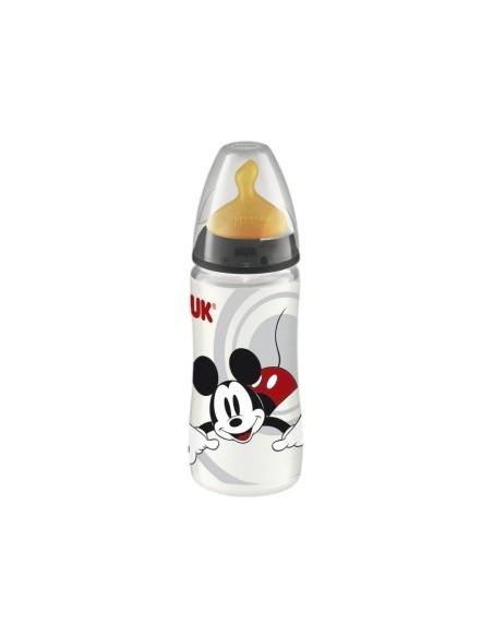 Nuk Biberon de PP Mickey First Choice Latex T-1 (0-6m) M (Leche), 300ml