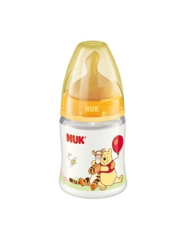 Nuk Biberon de PP First Choice Winnie de Pooh Latex T-1 M (Leche) 0-6m, 150ml