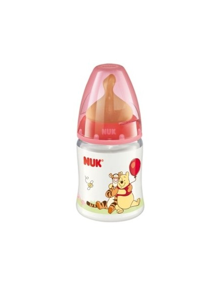 Nuk Biberon de PP First Choice Winnie de Pooh Latex  T-1 M (Leche) 0-6m, 150ml
