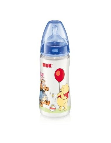 Nuk Biberon de PP First Choice Winnie de Pooh Latex T-1 M (Leche) 0-6m, 300ml