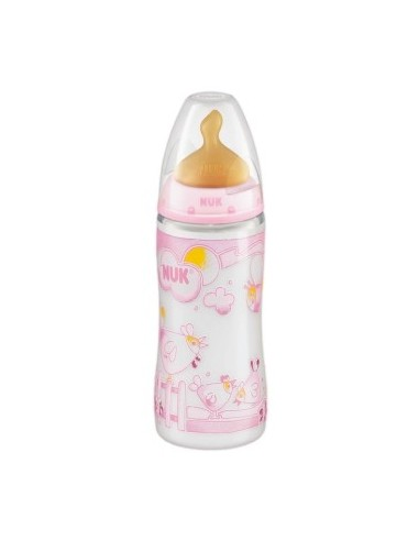 Nuk Biberon Baby Rose Latex T-1 M (Leche) 0-6m, 300ml