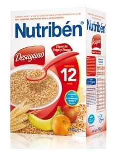 Nutribén Desayuno Copos de Trigo y Frutas +12m 750g