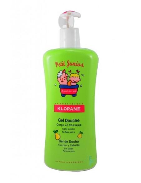 Klorane Petit Junior Gel De Ducha Cuerpo/Cabello Perfume Pera, 500ml