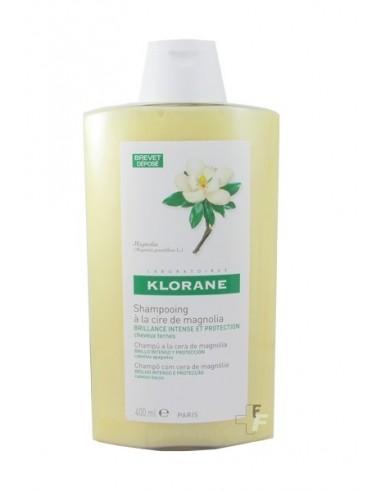 Klorane Champú A la Cera de Magnolia Brillo Intenso y Protección, 400ml