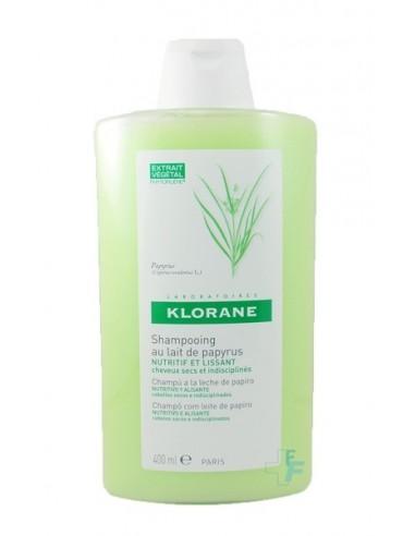 Klorane Champú a la Leche de Papiro Nutritivo y Alisante, 400ml