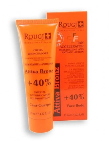 Rougj Attiva Bronz Intensificador Bronceado +40% Cara/Cuerpo, 125ml