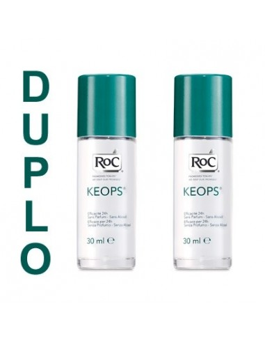 Roc Duplo Desodorante Roll-on Piel Sensible, 2 x 30ml