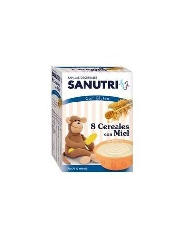 Sanutri Papilla 8 cereales con Miel, 600g