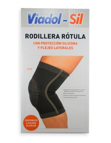 Viadol-Sil Rodillera Rótula con Protección Silicona y Flejes Laterales, Talla Grande