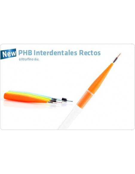 PHB Cepillo Interdental Recto Ultrafino, 6Ud