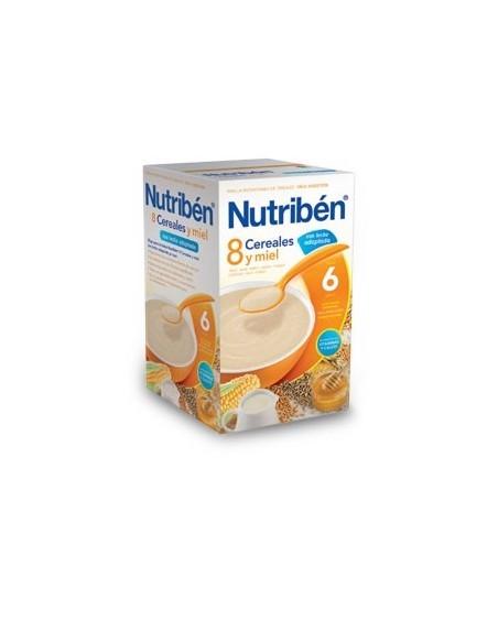 Nutribén 8 Cereales y Miel con leche adaptada, 600g