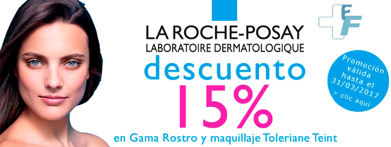 15% de descuento en gama rostro y maquillaje Toleraine