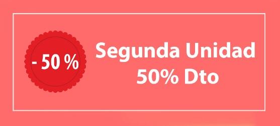 Segunda unidad 50 por ciento de descuento